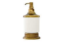 Дозатор для жидкого мыла KUGU Versace Freestand 230A (латунь, бронза, керамика)(Бесплатная доставка Новой почтой)