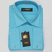 Школьная  классическая рубашка с длинным рукавом для мальчиков Турция 158р