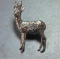Серебряный значок для охотника Косуля
