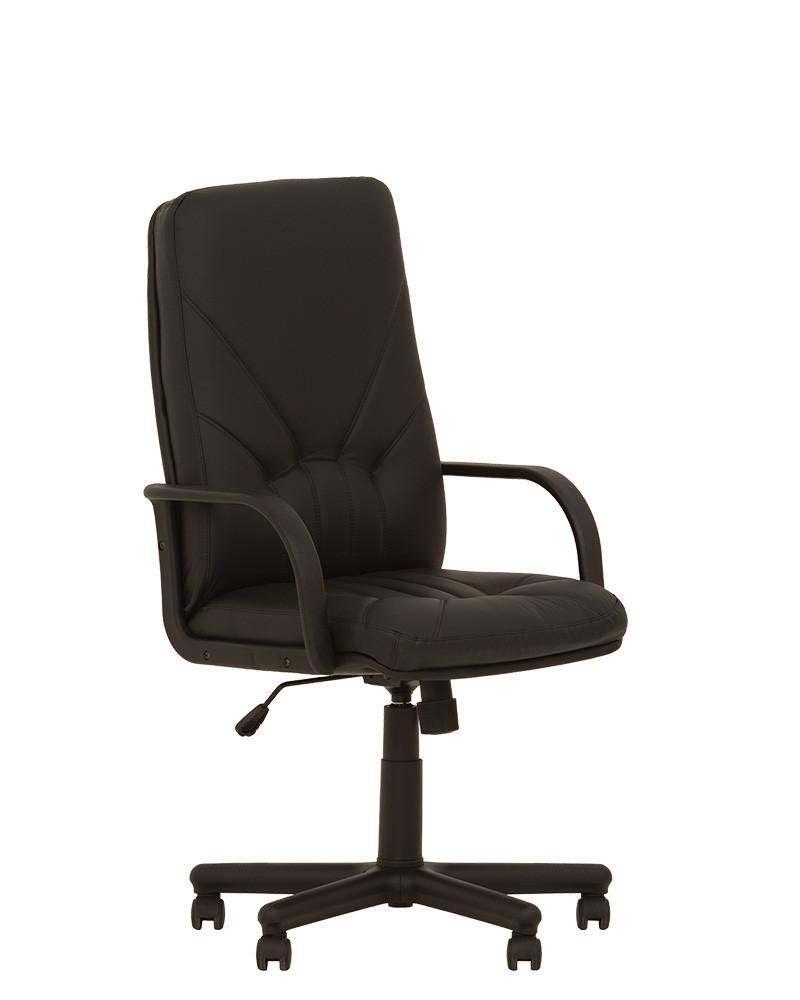 Кресло офисное Manager plastic механизм Tilt крестовина PM64, экокожа Eco-30 (Новый Стиль ТМ)