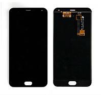 Модуль - дисплей Meizu M2 Note с тачскрином, чёрный
