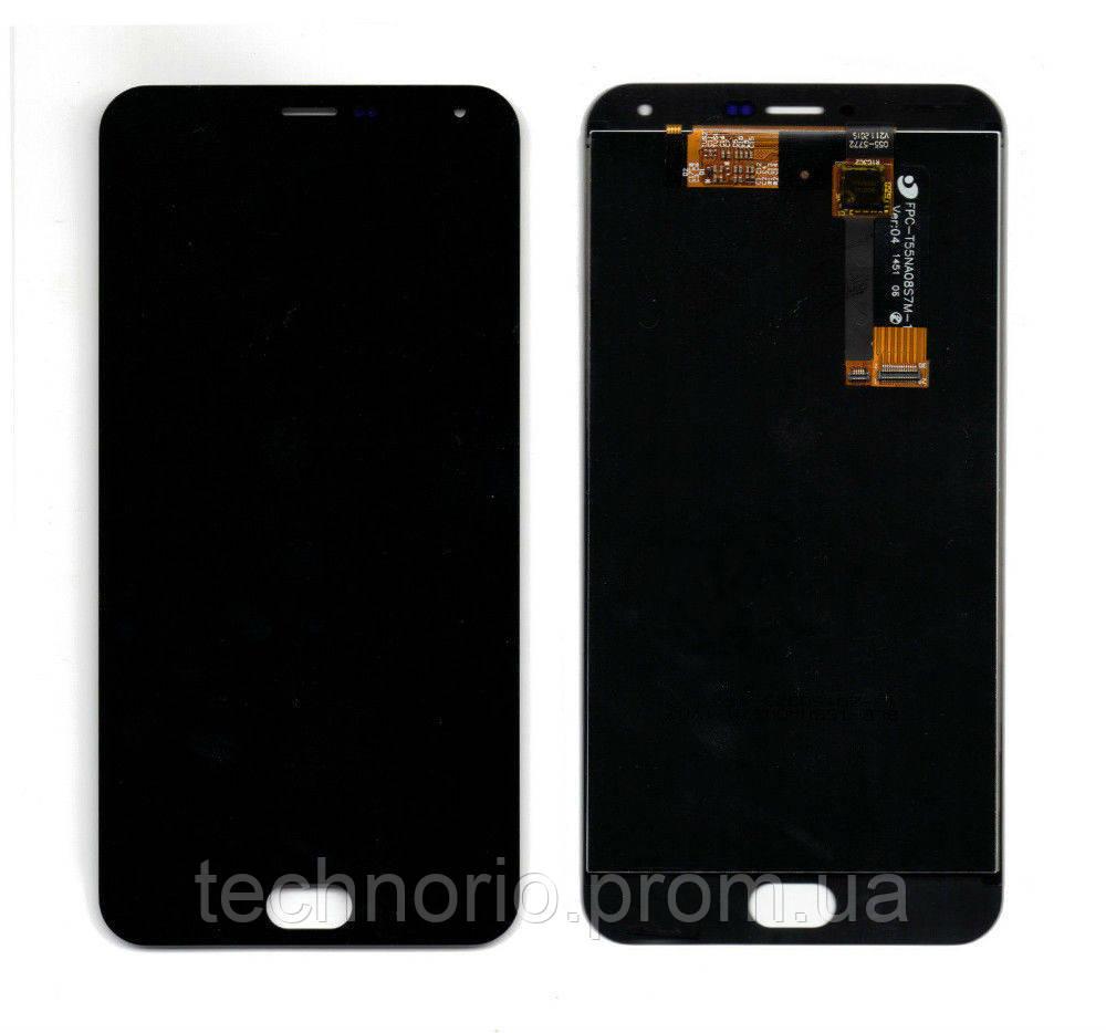 Модуль - дисплей Meizu M2 Note с тачскрином, чёрный - TechnoRio в Харькове