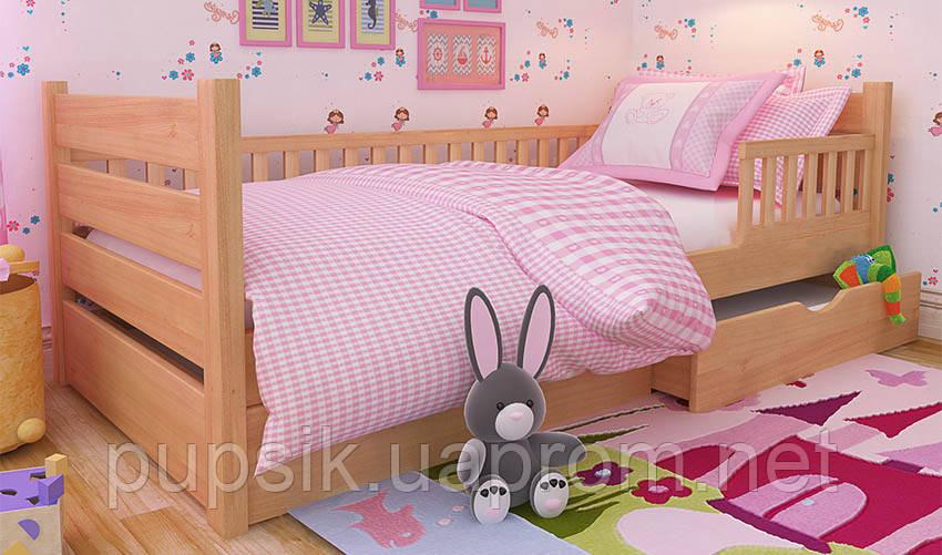 Кровать подростковая Карина Экстра Woodland с защитным бортиком