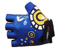 Велоперчатки PowerPlay 001 хс, синий