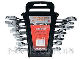 Набор ключей рожковых, 6 - 17 мм, 6 шт., CrV, хромированные MTX 152319