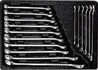 Набор ключей комбинированных, 16 предметов AmPro T40187