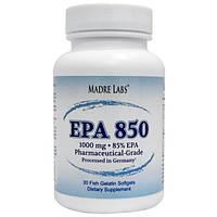 Рыбий жир с жирными кислотами, для сердца, Madre Labs, EPA 850, 1000 мг, 30 капсул