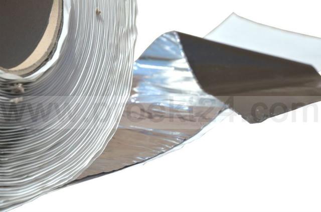 Бутилкаучуковая лента с фольгой 100мм