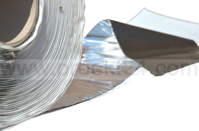 Бутиловая герметизирующая лента с фольгой 50мм