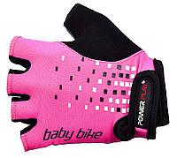 Велоперчатки PowerPlay 5451 3хс, розовый