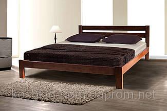 Ліжко двоспальне Лейла горіх 160*200 масив вільхи