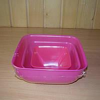 Набор салатниц квадратных 0,5л; 1,0л; 2л.