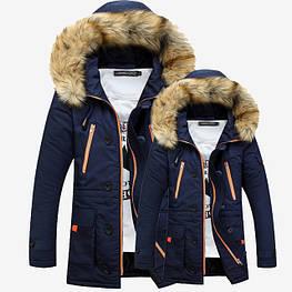 Мужская зимняя куртка с капюшоном. Модель 700