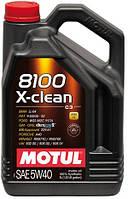 Масло MOTUL 8100 X-CLEAN SAE 5W-40 5л (854151)
