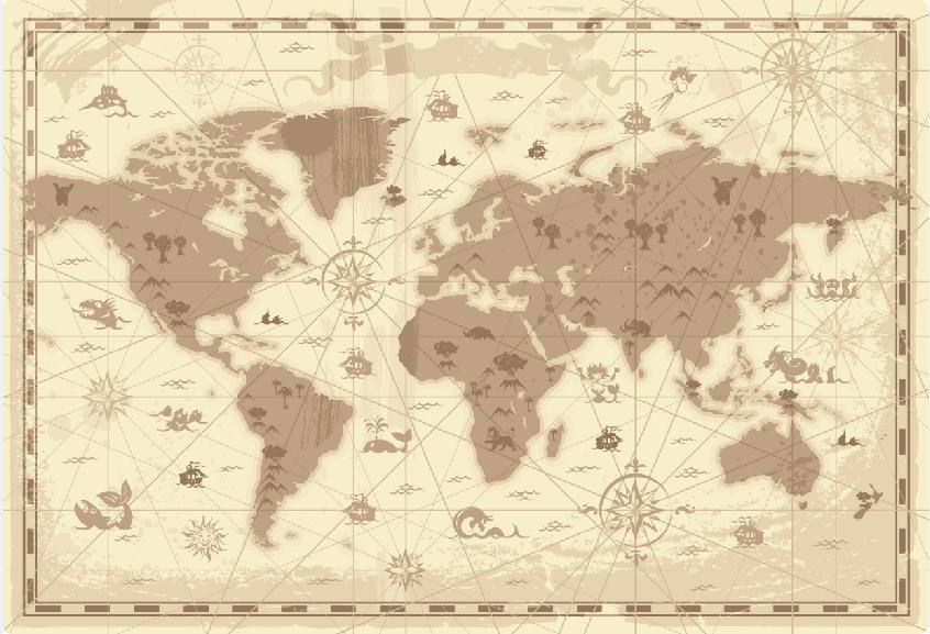 Фотообои Карта 05