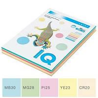 Набор бумаги цветной пастельной IQ, А4/80 (5х50/250л.), RB01 (A4.80.IQ.RB01.250)