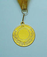 Медаль IMD-005 gold с лентой