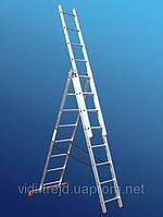 Лестница алюминиевая трехсекционная STS 3х8