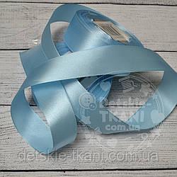 Лента сатиновая шириной 30 мм светло-голубая