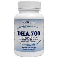 Рыбий жир с жирными кислотами, для сердца, ДГК Madre Labs, DHA 700, 1000 мг, 30 капсул