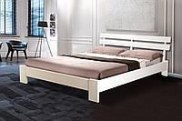 Кровать двуспальная Эмма белый 160*200 массив ольхи