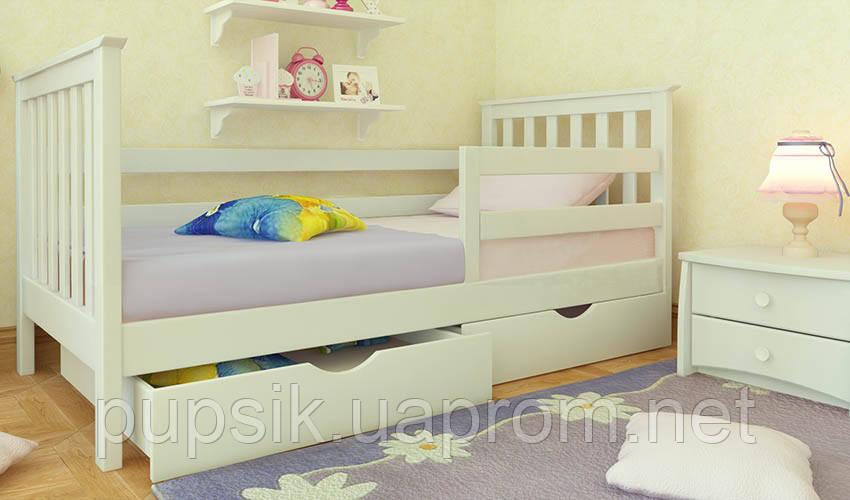 Кровать подростковая Ариана Экстра Woodland с защитным бортиком натуральное дерево