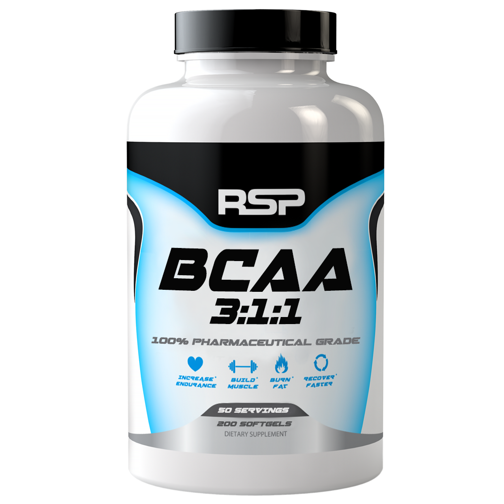 Аминокислоты RSP BCAA 3:1:1 - 200 CAPS (USA)