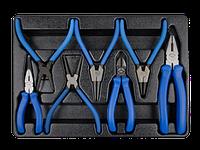 Комплект шарнирно-губцевого инструмента в лотке 7 пр KING TONY 9-40207GP