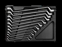Ключи накидные (комплект) в ложементе  6-32 мм. KING TONY 9-1711MR