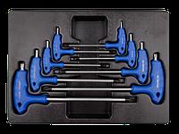 Набор L-обр ключей TORX 1163R 8пр Т10-Т50 KINGTONY 9-22308PR