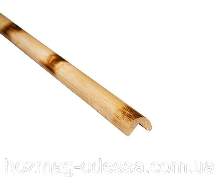 Бамбуковый молдинг угловой наружный, черепаховый светлый