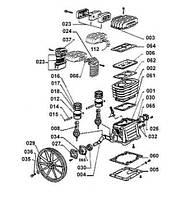 Запчасти компрессора ABAC B 3800B, OMA 4/470/200