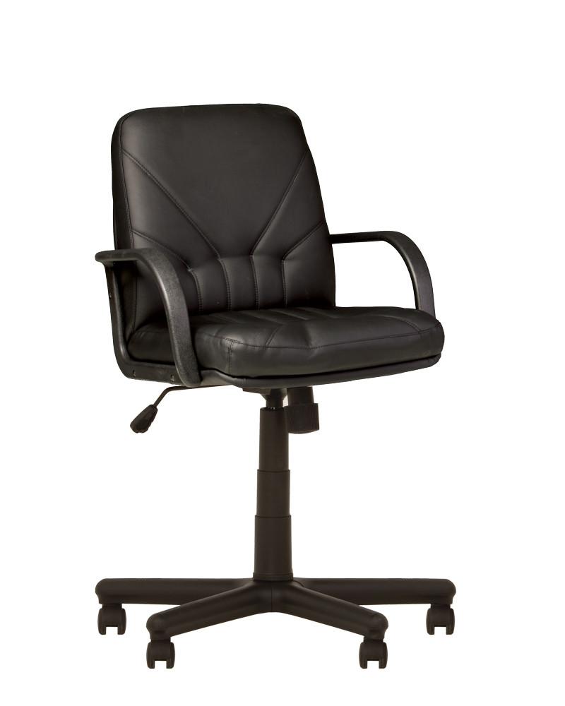 Крісло офісне Manager LB plastic механізм Tilt хрестовина PM64, екошкіра Eco-30 (Новий Стиль ТМ)