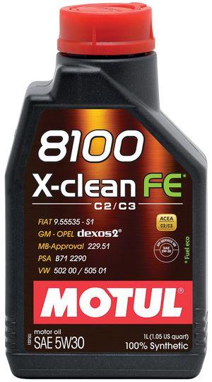 Масло MOTUL 8100 X-CLEAN FE 5W-30 1л (814101)