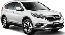 Защита заднего бампера на Honda CRV (c 2012--)