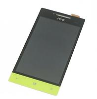 Оригинальный дисплей (модуль) + тачскрин (сенсор) для HTC Windows Phone 8S A620e (салатовый цвет)