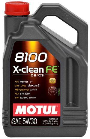 Масло MOTUL 8100 X-CLEAN FE 5W-30 4л (814107)