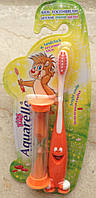 Детская зубная щетка с песочными часиками или игрушкой