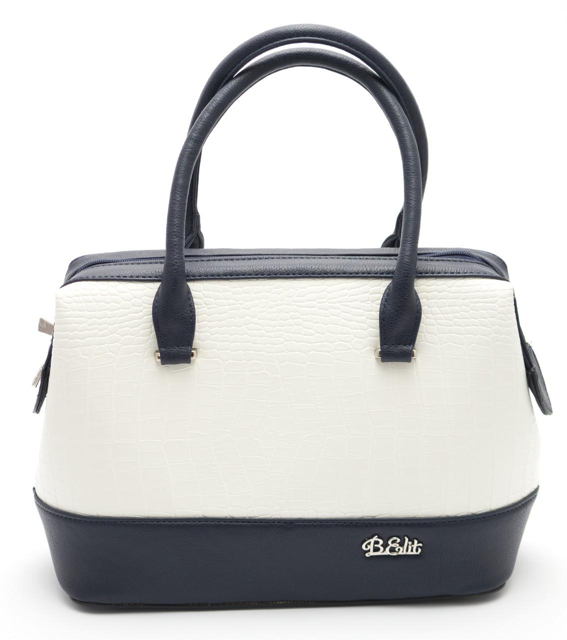 Стильная женская сумка саквояж B.Elit Б/Н art. 06-03