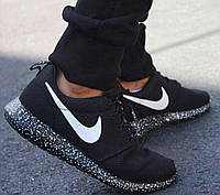 Кроссовки Nike Roshe Run Black White Dots женские 40