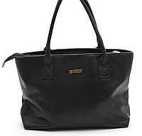 Красивая женская черная сумка  из гладкой кожи Б/Н art. 1820