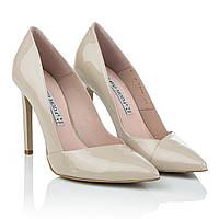 Бежевые туфли лодочки на шпильке Bravo Moda (классический дизайн, стильные, элегантные, роскошные)