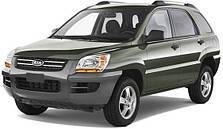 Защита заднего бампера на Kia Sportage (2004-2010)