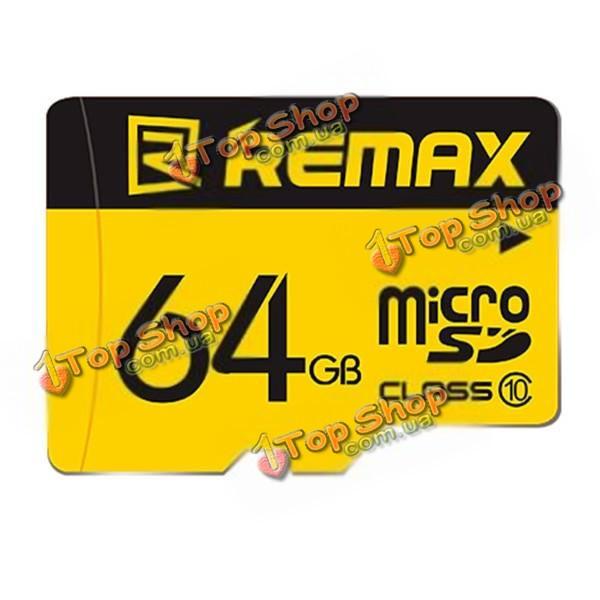 Карта флэш-памяти ReMax 64G b TF Micro-SD Class 10