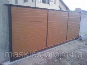 Ворота откатные с профнастилом 4.5м*2.0м
