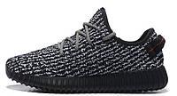 Женские кроссовки Adidas Yeezy Boost 350 Low Pirate Black (Адидас Изи Буст 350) черные