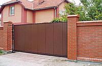 Ворота откатные из профнастила 4.0м*2.0м