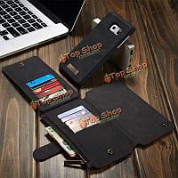 CaseMe съемный молния бумажник чехол для карта для PU Samsung Galaxy S6