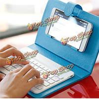 Универсальная беспроводная клавиатура Bluetooth кобуры Flip чехол крышки PU для мобильного телефона в 4.5'' - 6.5''