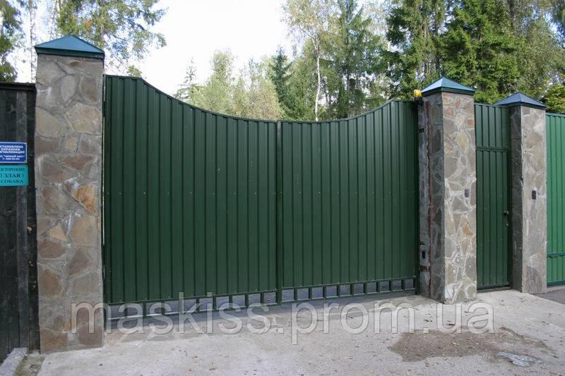 Ворота распашные с профнастилом 4.0м*2.0м